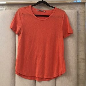 orange athleta tee